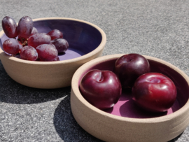 "Set van 2 kommetjes ""grape & plume"""