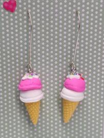 """Zomerse oorbellen """"ijsje"""""""