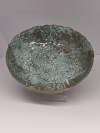 """Handgevormde schaal - """"Blue Moon"""" diameter  +/- 22 à 23 cm"""
