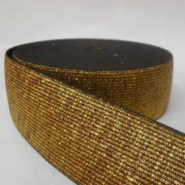 Goudkleurige elastiek 4 cm breed : prijs per 10 cm
