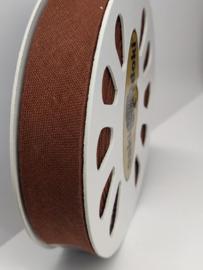 DDB963 Biaisband katoen - 20mm - bruin- verkocht per 10 cm