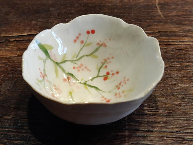 """Handgevormd minipotje - """"Springtime"""" diameter  +/- 8 à 9cm"""