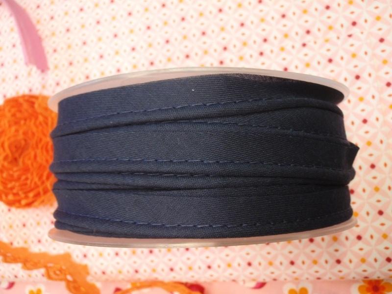 Paspelband marineblauw - per 10 cm