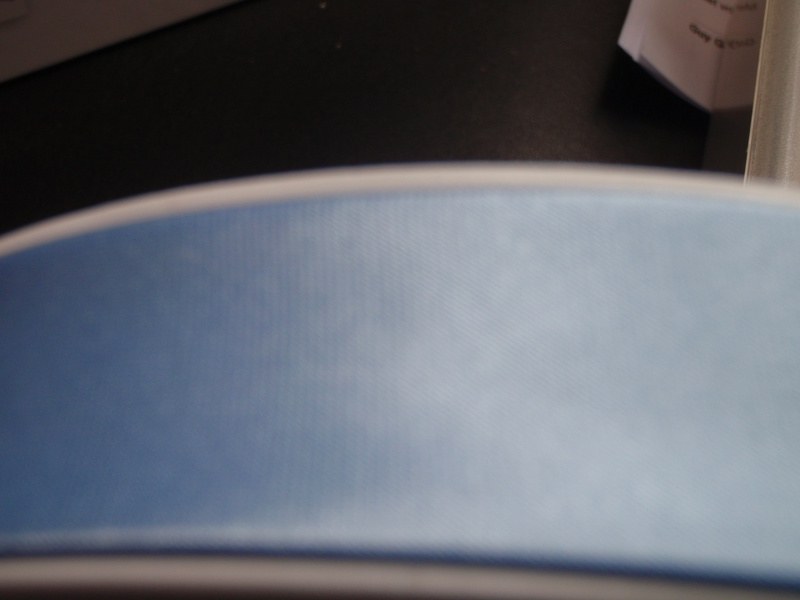 F- Col. 716 - Biaislint satijn - lichtblauw - per 10 cm