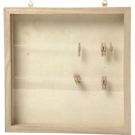 """3D lijst /Foto kistje met """"was-lijntjes"""" (dicht)"""