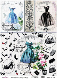 CAD0232 Couture Vintage style