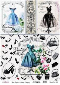 Cadence rijstpapier  Couture Vintage style (art232)