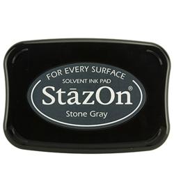 StazOn inktkussen Stone Grey