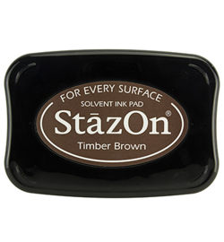 StazOn Timber brown (donker bruin)