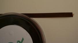 4301767/S satijnlint donker bruin