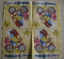 3351 Konijntje op fiets