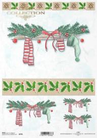 ITD R0795 Rijstpapier Kerst