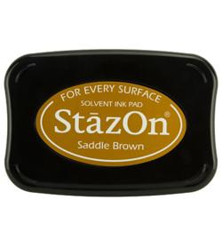 StazOn inktkussen Saddle bruin