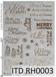 ITD RH003 Merry Christmas -gold- (A5)