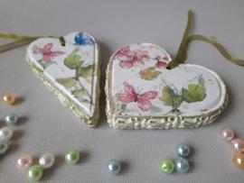 Set van 2 houten hartjes