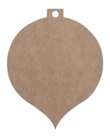 MDF Kerstbal-hanger (klein)