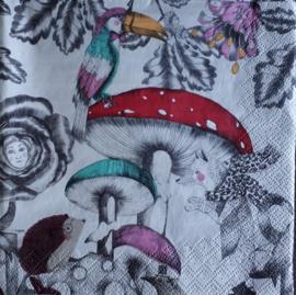 6152 Fantasie paddenstoelen en dieren
