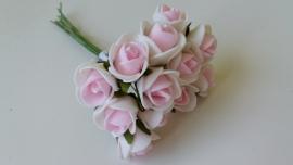 KB029 Foam roosjes roze klein (set van 12)