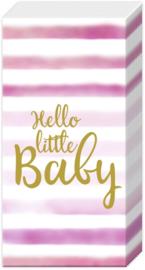 Z0586a Hello Little baby (roze)