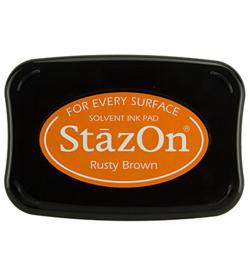 StazOn intkussen Rusty brown