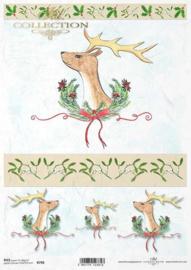 ITD R0798 Rijstpapier Kerst / hert