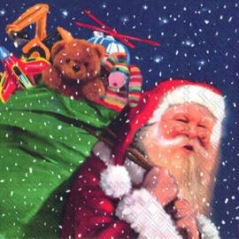 5681 Kerstman met zak speelgoed