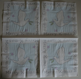 1414 Merry X-mas, witte duif