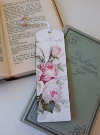 Boekenlegger Vintage Rose