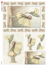 PD-FA0048 Flower fairie (geel)