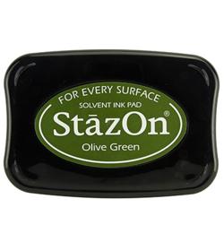 StazOn inktkussen (olijf groen)