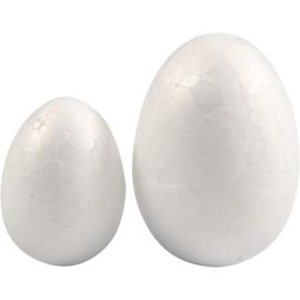 Eieren styropor (wit, 10 cm), per 5 stuks