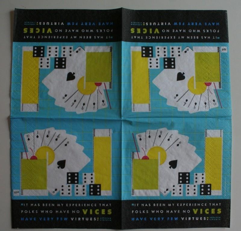 4113 Kaarten en domino (cocktail)