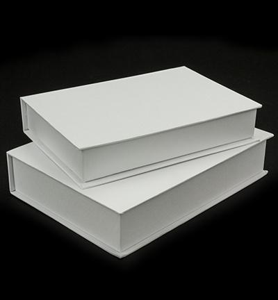 wit kartonnen boekdozen (set van 2)