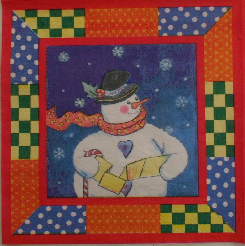 2337p Sneeuwman (5x)