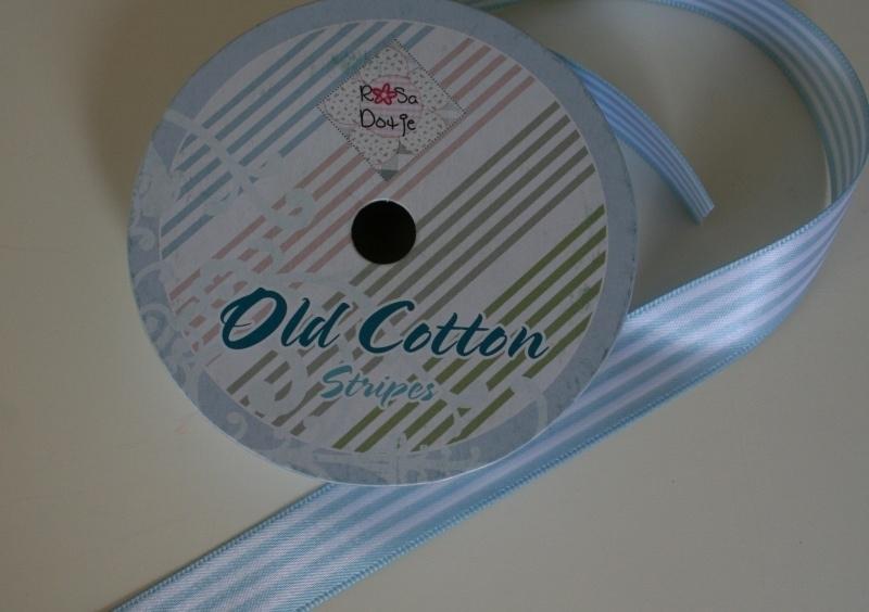 Old Cotton stripes Blauw