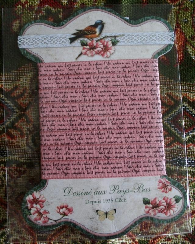 C&E Tekst lint roze