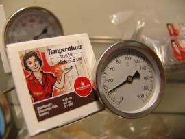 Rookoven temperatuurmeter 4.5 cm doorsnede klok 6.5 cm