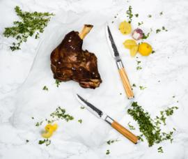 Olive Forged 4-part Steak Knife Set / 4-delige Steakmessenset