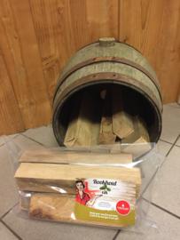 Eikenhout (Professioneel kurkdroog en schorsvrij eiken rookhout 2,5 kg)