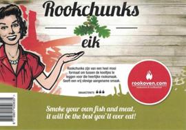 Rookchunks Eik (1 kg)