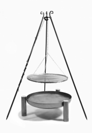 Grill rvs 60cm Palma 12kg 185 cm hoog