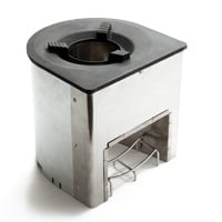 Build-in cookstove for wood