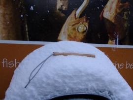 Visknuppel 25 cm hout