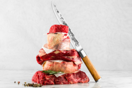 Olive Forged Carving Knife / Vleesmes