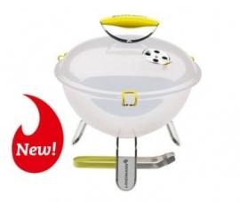 Piccolino Barbecue (White) + Gratis RVS barbecuetang