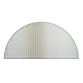 Half Moon Laser-Cut Stainless Steel Plate (Classic Joe)