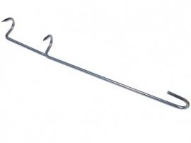 5 x RVS Rookhaak | dubbele haak Standaard (forelhaken)