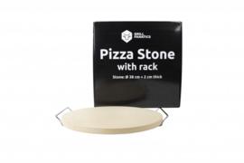 Grill Fanatics Pizzasteen inclusief houder