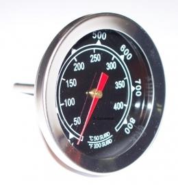 Temperatuurmeter 4.5 cm doorsnede klok 0-350 graden