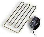 Rookoven Locarno RVS 80 x 40 x 28 compleet pakket incl. electrisch spiraal (voordeel!)
